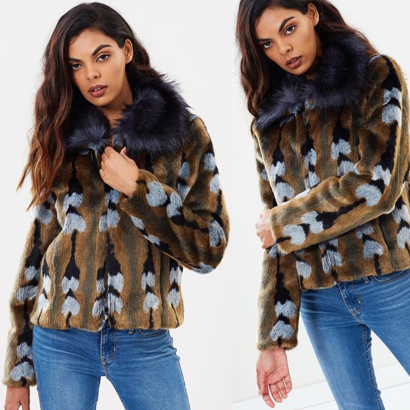 80ba45f3e51 Unreal Fur Reflections Jacket. M 5c07e9911b32943c6931fdd2